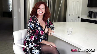 Busty Wife Andi James Gives JOI to Husband's Friend