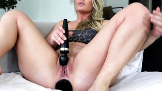 Amazing solo anal toying with sexy blonde