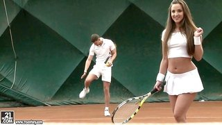Passionate Amirah Adara loves both the tennis and the penis