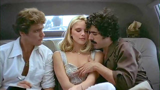 Classic scene with pretty chicks and talented lads