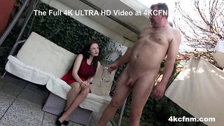 Fully Clothed Girl Teasing Old Fart