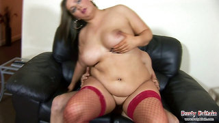 Eliza Yates large plumper giant tittie big ass enjoys bouning hard on cock