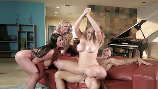 Angela White, Kagney Linn Karter, Phoenix Marie and Johnny Sins