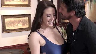 Big dick experienced guy fucks seductive babe with big tits