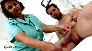 Fleshlight J.O. doctor mature handjob