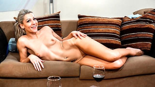Lusty blonde Aby Action likes good anal sex in the cowgirl pose