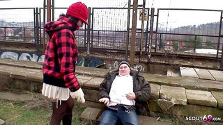 SCOUT69 - Old Ugly Guy Fuck Real Czech Teen Street Whore Public