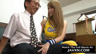 Nasty Japanese Young Cutie Cheerleader