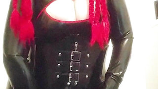 Wearing My Latex Catsuit While Master Is At Work