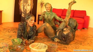 Eurobabes Wet And Messy Paint Party