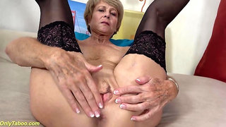 ONLYTABOO - ugly 75 years old grandma first time on video