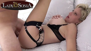 Mommy Lady Sonia gets stuffed by a big penis