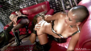 Missy Monroe and Max Mikita have anal with the leader of the biker club