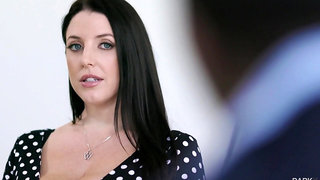 Chubby housewife with huge titties Angela White loves riding strong cock