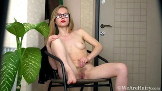 Alexandra comes in to strip sexy for all to see