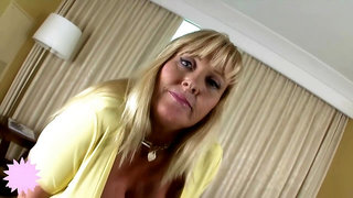 Insatiable, blonde milf with massive milk jugs is getting hammered and enjoying every second of it