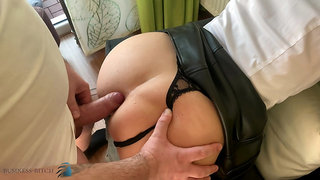 business meeting, home office anal fuck - business-bitch