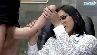 Big Cock Delivery With A Cum Facial And A Side Of Lunch