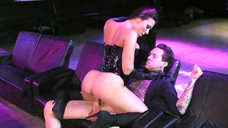 A perfect scene of cock riding with a top stripper