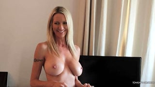 Sensual busty blonde Emma Starr likes his massive dick so much