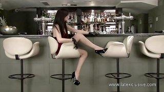 Chloe - Red Latex Dress