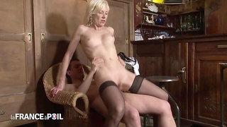 Perverted Bartender Fucks Skinny MILF