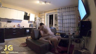 Horny Couple Rough Fucking after College - Homemade