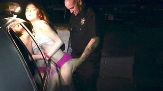 Real party hard bitch Hannah Hays is picked up and fucked right in the car