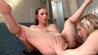 Deep and Wide Lesbian Anal Perverts Ella Nova and Casey Calvert