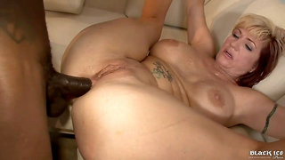 old blonde mature ass fucked by big black dick - fake tits & monster cock