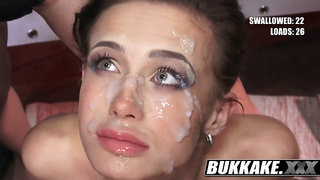 Nicole Swallows Cock and Cum, Scenes from Gangbang - Bukkake.