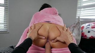 LaSirena69 gets her eager holes fucked and tits showered with cum