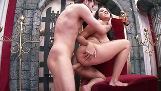 Medieval Queen Missy Martinez gets her royal ass pounded