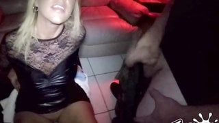 She getting covered in cum load at the theater - hard sex
