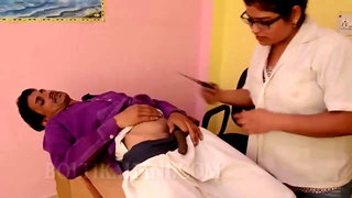 Desi Nurse Gets Fucked By Patient's Black Cock, Hindi Comedy Sex