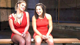 Phoenix Marie and Abella Danger Helpless in Bondage, Tormented and Made to Cum!!