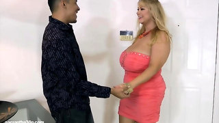 Curvaceous blonde woman with big tits is having sex with her neighbor, Ki once in a while