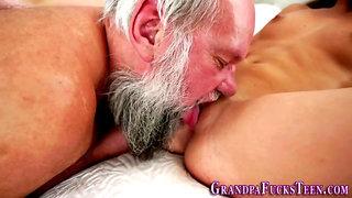 Teen skank fucks grandpa