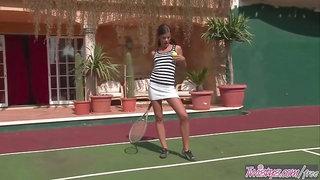 Twistys - Cute teen Caprice in Tennis Or Masturbation All Fun