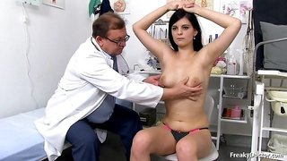 Freaky Old Doctor Touch Young Big Boobs Of New Patient