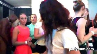 Kinky chicks get completely foolish and undressed at hardcore party