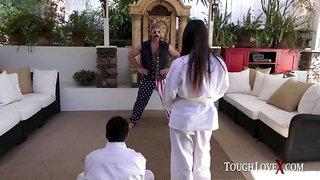 TOUGHLOVEX Scarlet De Sade gets Karl Kwon Do lessons