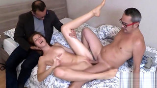 Penniless stud allows peculiar friend to pound his exgirlfriend for bucks