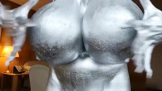 bodypaint huge tits