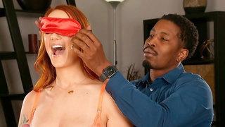 Stunning redhead Siri Dahl anally fucked and DP'ed from behind