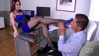 Foot Fetish Sabby and Minnie Manga Office Sex