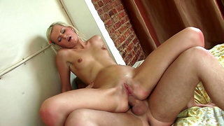Seductive blonde feels it in the ass deeper than ever before
