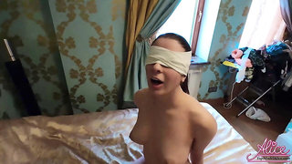 Babe Hard Rough Sex in Handcuffed Blindfold