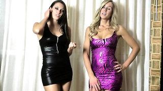 Lesbian chicks undressing latex