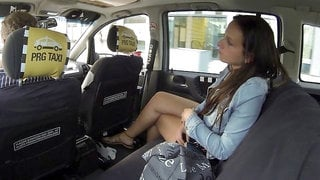 Sensual model with big bottom fucked by a fake driver on the backseat
